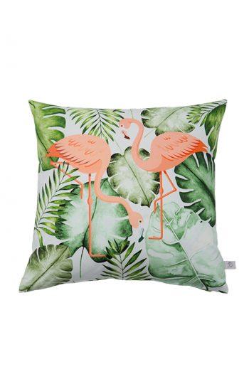 Flamingo, Kissen, Dschungelmotive, Blätter, Designerkissen